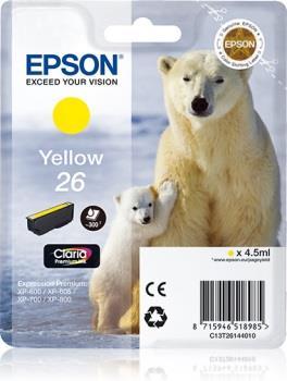 Inkoust Epson T2614 yellow Claria | 4,5 ml | XP-600/700/800
