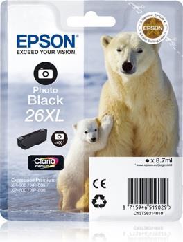 Inkoust Epson T2631 XL photo black Claria   8,7 ml   XP-600/700/800