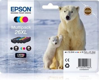 Bundle Epson T2636 XL CMYK Claria Multi Pack | XP-600/700/800