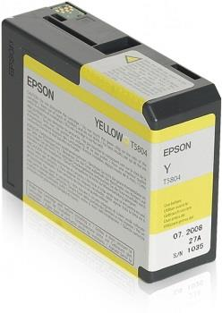 Ink Epson T5804 Yellow   80 ml   Stylus Pro 3880