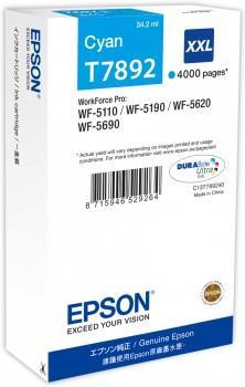 Ink Epson cyan T7892 | 34 ml | WF-5110DW/WF-5190DW/WF-5620DWF/WF-5690DWF