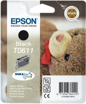 Inkoust Epson T0611 black DURABrite | Stylus D68 Photo Edition/88/88 Plus,DX3800
