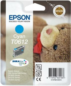 Inkoust Epson T0612 cyan DURABrite | Stylus D68 Photo Edition/88/88 Plus,DX3800/