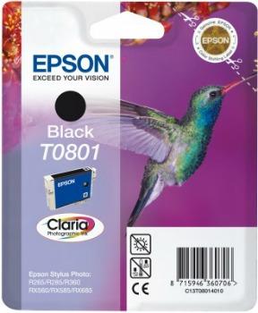 Inkoust Epson T0801 black | Stylus Photo R265/285/360,RX560/585/685