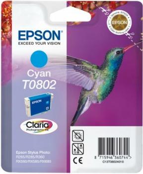 Inkoust Epson T0802 cyan | Stylus Photo R265/285/360,RX560/585/685
