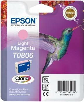 Inkoust Epson T0806 light magenta | Stylus Photo R265/285/360,RX560/585/685