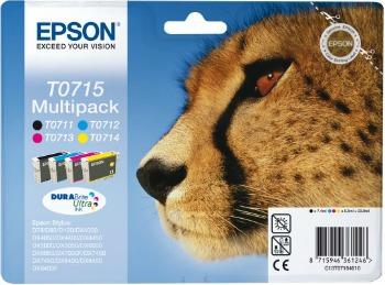 Bundle Epson T0715 CMYK MultiPack DURABrite | Stylus D78/92/120/120 Network E...