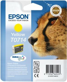 Inkoust Epson T0714 yellow DURABrite | Stylus D78/92/120/DX4000/4050/4400/4450/5