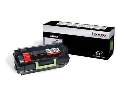 Toner Lexmark 520HA black | 25000 pgs | MS810de / MS810dn / MS810dtn / MS810n