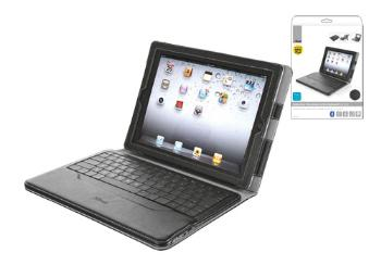 Executive Folio Stand with Bluetooth Keyboard for iPad