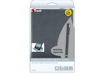 Hardcover skin & folio stand for iPad Mini with stylus pen