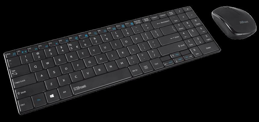 Trust Gusy Wireless Ultra-thin Keyboard with mouse CZ