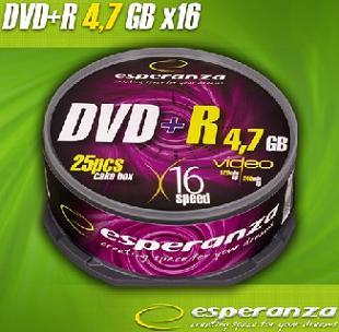 Esperanza DVD-R [ cakebox 25   4.7GB   16x ]