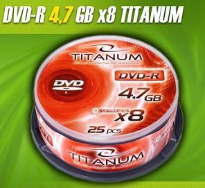 Titanum DVD-R [ cakebox 25   4.7GB   8x ]