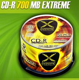 Extreme CD-R [ cakebox 50 | 700MB | 52x ]