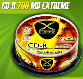 Extreme CD-R [ cakebox 25 | 700MB | 52x ]