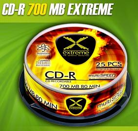 Extreme CD-R [ cakebox 10 | 700MB | 52x ]
