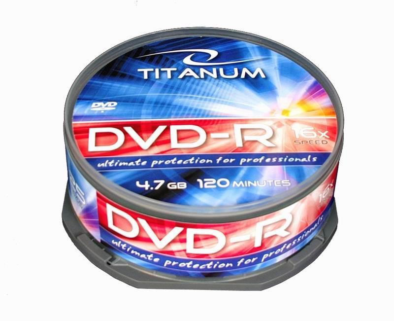 Titanum DVD-R [ cakebox 25   4.7GB   16x ]
