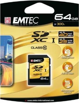 EMTEC SDXC karta 64GB Class 10 (45MB/ 14MB/s)