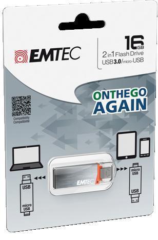 EMTEC Serie T203 16GB USB3.0/ micro 2.0 OTG flashdisk |Android| Windows Phone|