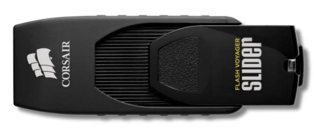 Corsair Flash Voyager Slider USB 3.0 128GB, výsuvný konektor