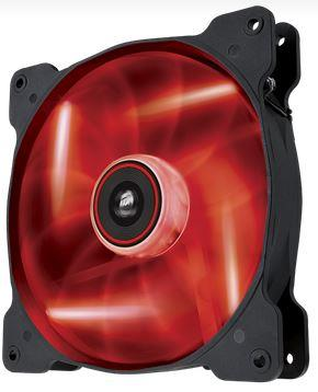 Corsair Air Series AF140 LED Red Quiet Edition, 140mm vent., 25dBA, Single pack