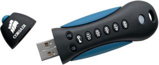 Corsair Flash Padlock 2 32GB; 256-bit HW šifrování, ochrana PINem, gumový