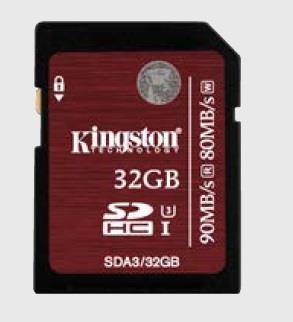 Kingston SDHC karta 32GB Class 3 UHS-I U3, 90/80MB/s, pro 4K2K video