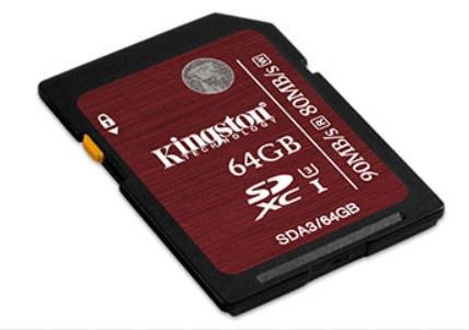 Kingston SDXC karta 64GB Class 3 UHS-I U3, 90/80MB/s, pro 4K2K video