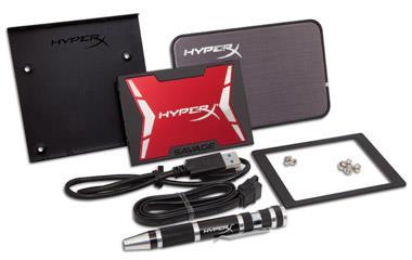 HyperX Savage SSD disk 120GB SATA3, 2.5'', 7mm (čtení/zápis;560/360MB/s), kit